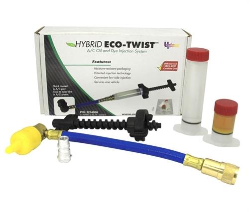 Hybrid Eco-Twist injection system with 1 oz ester oil , 1/4oz A/C dye cartridge