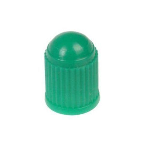24 Pcs. Green Plastic Tire Valve Stem Caps for Nitrogen inflation w/ INNER SEAL