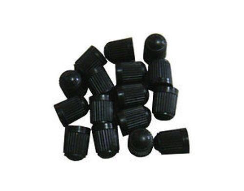 24 BLACK PLASTIC TIRE VALVE STEM CAPS