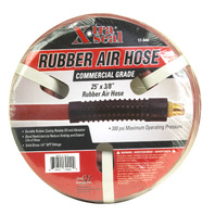 Air Accessories, Rubber Air Hose, 25ft x 3/8in. Rubber 1/4in. npt, 17-944
