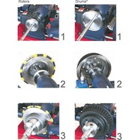 """3-Jaw Double Chuck Kit fits 1"""" HD Arbor Shaft 4000 4100 Quick Ammco Brake Lathe"""
