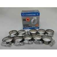 (10) #10 Hose Clamps, Fuel Line, Automotive, worm screw