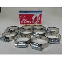(10) #20 Hose Clamps, Fuel Line, Automotive, worm screw