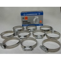 (10) #28 Hose Clamps, Fuel Line, Automotive, worm screw