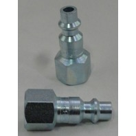 "(1) MILTON 728 Air line hose fitting nipple M style 1/4"" female NPT thread plug"