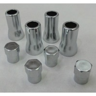 TPMS Tire Valve Stem Cap & Sleeve cover chrome set American Cars and Trucks