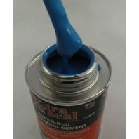 (6) QUART CANS - Super Blu Vulcanizing Cement Blue Tire patch glue 32oz can blue
