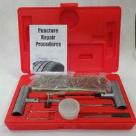 PROFESSIONAL Tire Repair Kit Die Cast Aluminum Tools Extra Needle 50 Brown plugs