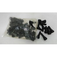 (50) TR 413 Snap-In Tire Valve Stems Short Black Rubber MOST POPULAR VALVE
