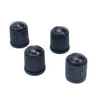 4 Pack - Universal Valve Caps for Bicycles with Schrader Valves, Black Plastic