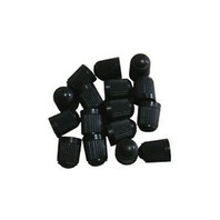 24 BLACK PLASTIC TIRE VALVE STEM CAPS