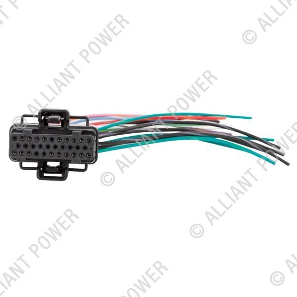 ficm connector pigtail for ford power stroke 2003-2007 f series, excursion  and 2004 - 2010 e series - alliant power # ap0032 | diamond diesel & turbo