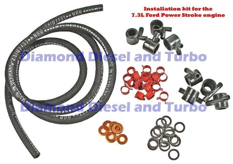 6 9l 7 3l Diesel Fuel Injection Line Kit Includes 8 Lines Plus