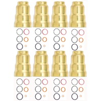 1994-2003 7.3L Ford Power Stroke | Set of 8 HEUI Injector Sleeves-Brass and Seal Kits | Alliant Power # AP63411