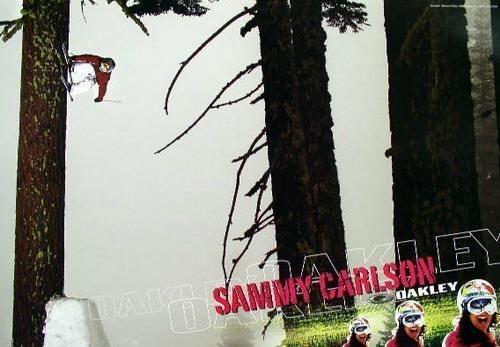 OAKLEY 2006 Sammy Carlson SICK ski promotional poster ~MINT cond NEW old stock~!