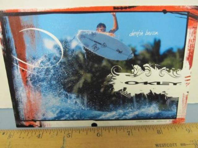 OAKLEY sun snow 2006 DUSTIN BARCA SURF dealer promo display card New Old Stock
