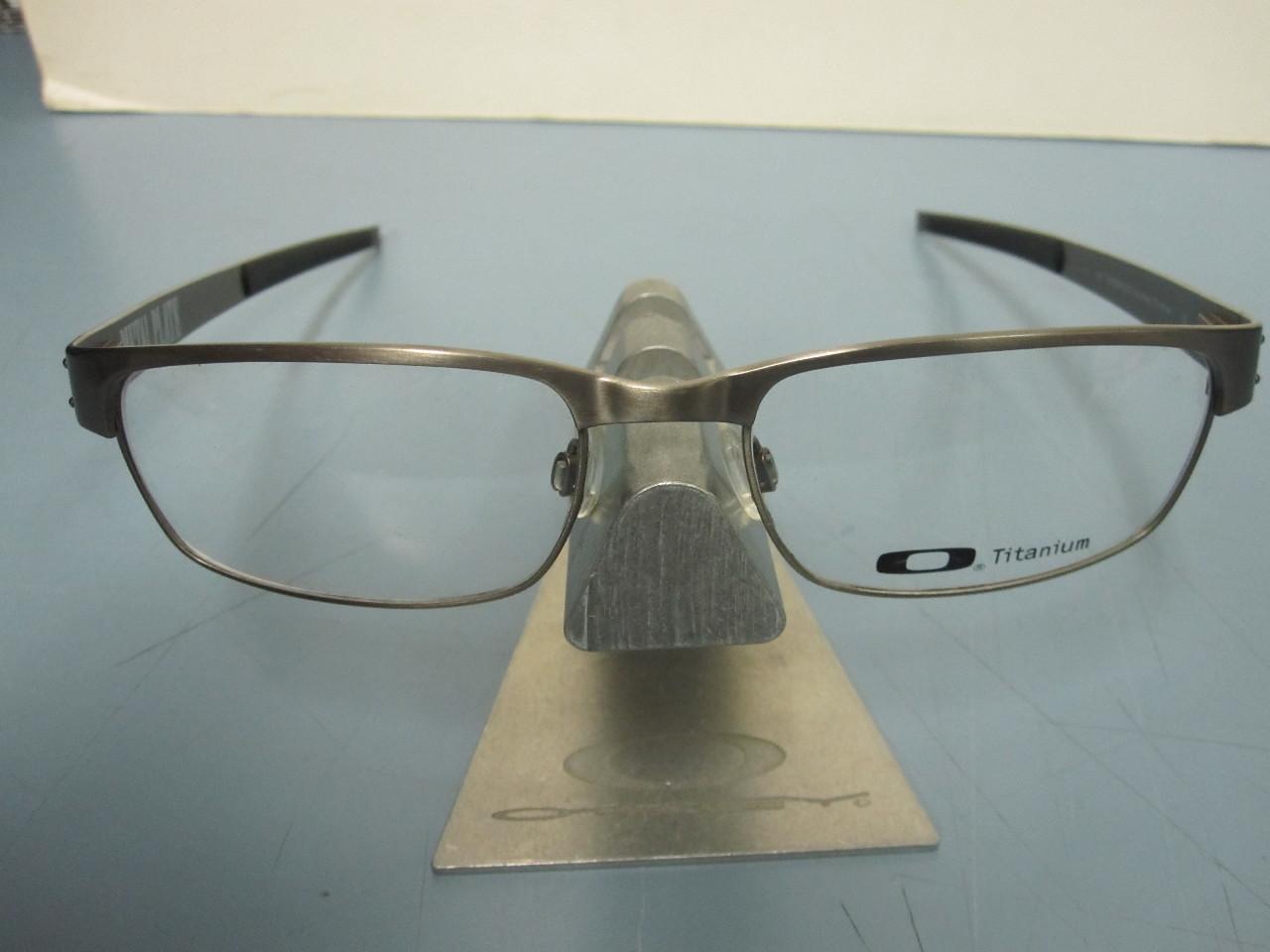 1fff126d317 OAKLEY mens METAL PLATE  brushed chrome  55 RX eyeglass frame ~NEW w  ...