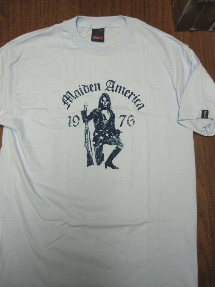 208666fa ... FUCT vintage Maiden America Mens LG Blue T-Shirt New Old Stock In Baggy