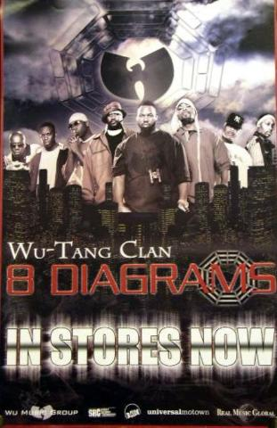 Wu Tang Clan 2008 8 Diagrams 2 Sided Promo Poster Newmint Condition