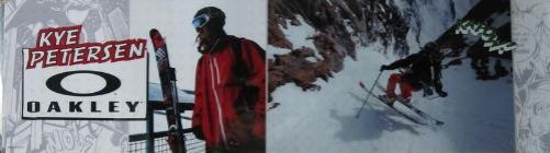 OAKLEY ski 2010 KYE PETERSEN ka-pow! BIG duratrans poster ~NEW~!!