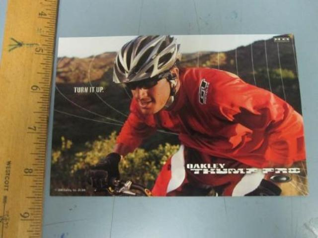 OAKLEY mountain bike 2006 BRIAN LOPES dealer promo display card New Old Stock