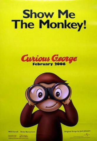 Jack Johnson 2006 Curious George advance BIG movie poster