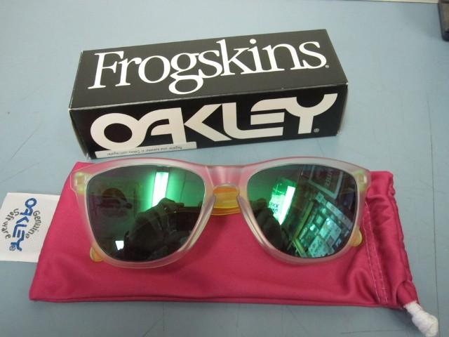 15c2e9669bc france oakley frogskins sunglasses 6cb66 f9686  inexpensive oakley men  frogskin sunglass matte clear jade iridium oo9013 b455 new in box f50f8  8190f