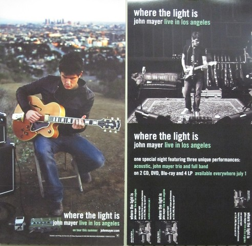 John Mayer 2008 Where The Light Is 2 Sided Promo Poster Flawless New