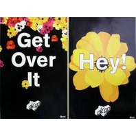 OK GO 2002 get over it 2 sided promo poster ~MINT new old stock~!!