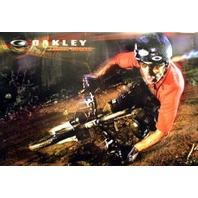 OAKLEY 2007 CEDRIC GRACIA mountain bike promo poster Flawless NEW old stock