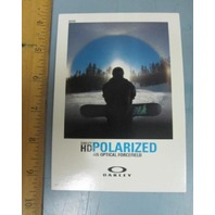 OAKLEY 2010 POLARIZED SNOWBOARD dealer promo display card New Old Stock Flawless