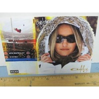 OAKLEY 2006 GRETCHEN BLEILER SNOWBOARD dealer promo display card 3 New Old Stock