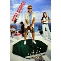OAKLEY 2005 RICKY BARNES golf promo poster ~MINT~! NEW