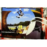 OAKLEY 2006 Bob Burnquist skateboard promotional poster New Old Stock Perfection