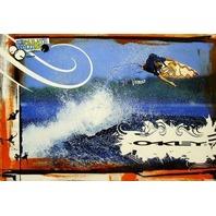OAKLEY 2006 Brenno Dorrington Surfing promotional poster New Old Stock Flawless