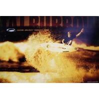 OAKLEY 2002 Taj Burrow surfing promotional poster New Old Stock Flawless
