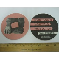 FRANZ FERDINAND 2013 right thoughts 4 beverage coaster set promo New Old Stock