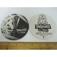 TRANSPLANTS 2013 in a warzone 4 beverage coaster set promo New Old Stock