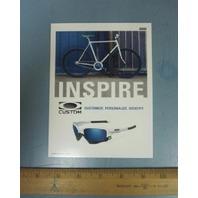 OAKLEY 2009 CUSTOM INSPIRE BIKE dealer promo display card New Old Stock Flawless