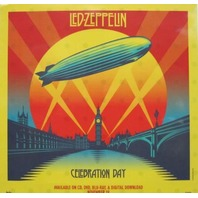 LED ZEPPELIN 2012 celebration day promo BIG static cling window sticker Flawless