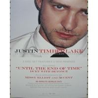 JUSTIN TIMBERLAKE 2006 FutureSex / LoveSounds BIG static cling sticker New