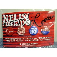 NELLY FURTADO 2006 LOOSE geffen records 4 button set New Old Stock Flawless