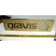 BURTON snowboard 2005 GRAVIS footwear BIG metal/wood display New Old Stock