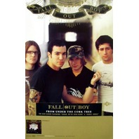 FALL OUT BOY 2005 from under cork tree promo poster ~MINT cond. NEW old stock~!!