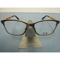 OAKLEY RX womens eyeglass frame VALIDATE chocolate OX5097-0353 New In Box w/Case