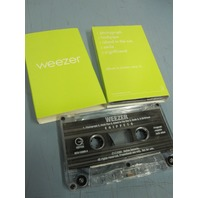WEEZER 2001 super RARE promo cassette GREEN snippets Mint Cond NEW old stock