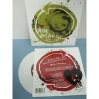 """Rise Against 2006 Ready To Fall PROMO 7"""" WHITE vinyl NEW old stock never played"""