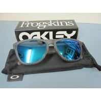 OAKLEY golf FROGSKIN sunglass *matte grey ink/sapphire iridium*~OO9013-56~NEW~!