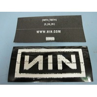 NINE INCH NAILS 2005 With Teeth promotional sticker New Old Stock Flawless