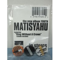 Matisyahu 2006 Youth promotional 3 button/badge set on card New Old Stock